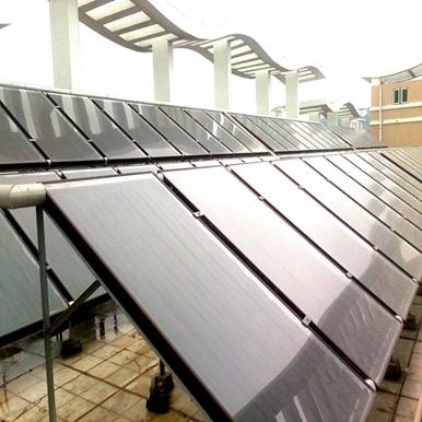 黄陂人民医院平板太阳能热水工程
