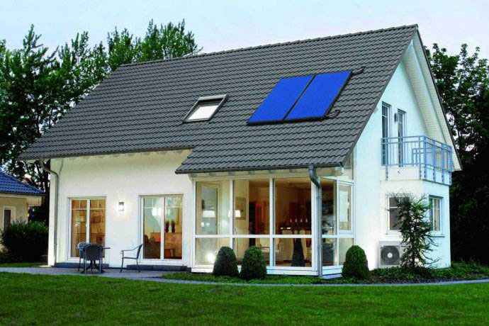 300L别墅太阳能热水系统