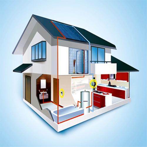一体式别墅太阳能热水系统