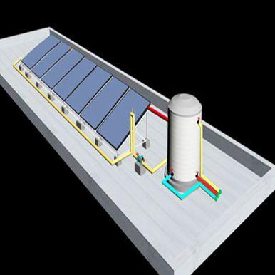 红枫金座平板太阳能热水工程