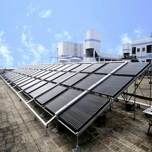 海波重科联箱太阳能热水工程